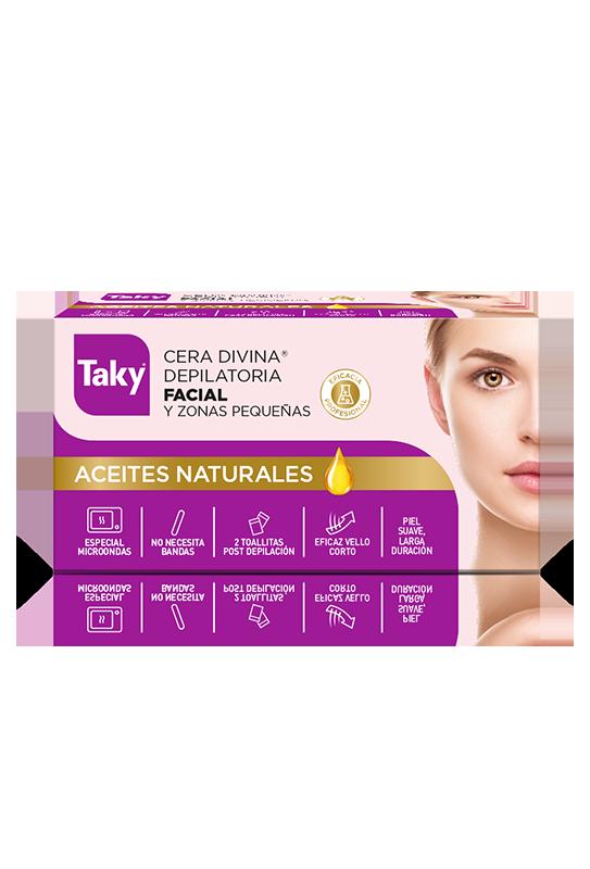 cera depilatoria facial aceites naturales microondas