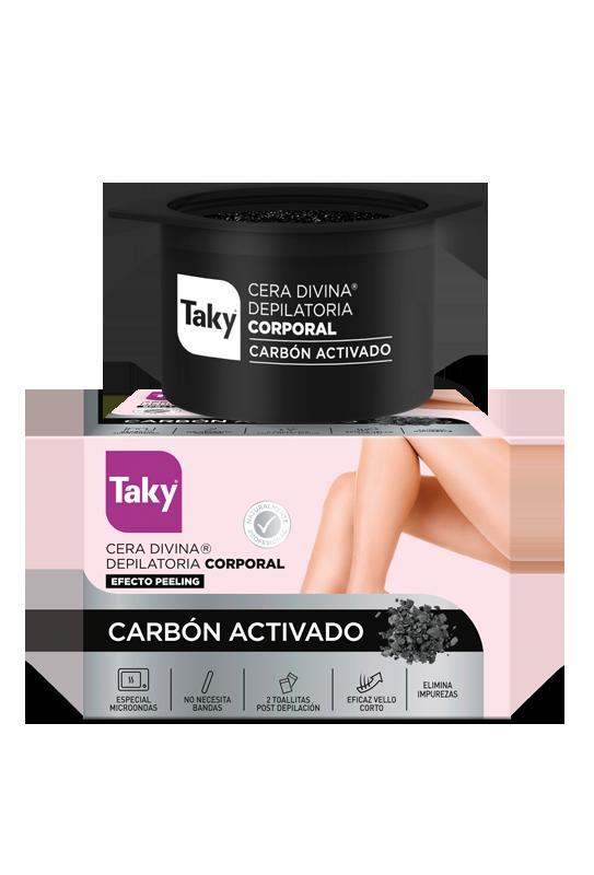 cera depilatoria corporal microondas carbon activado efecto peeling