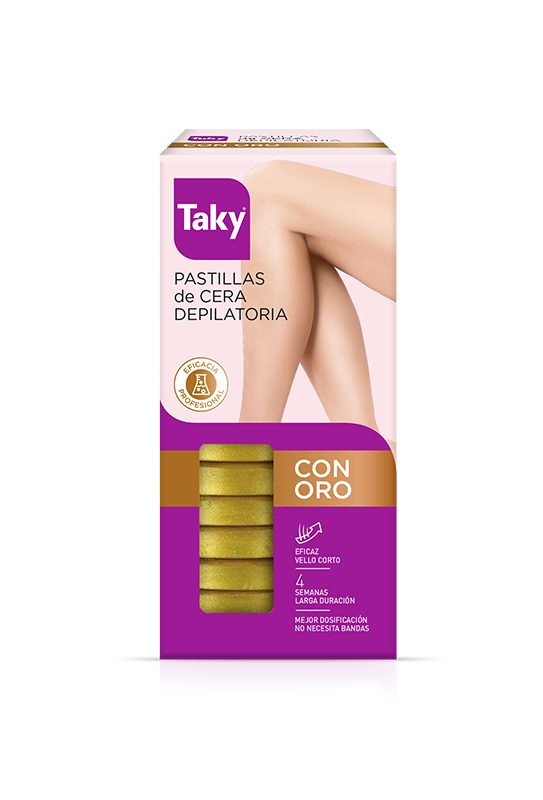 pastillas cera depilatoria con oro