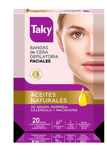 bandas cera depilatoria faciales aceites naturales